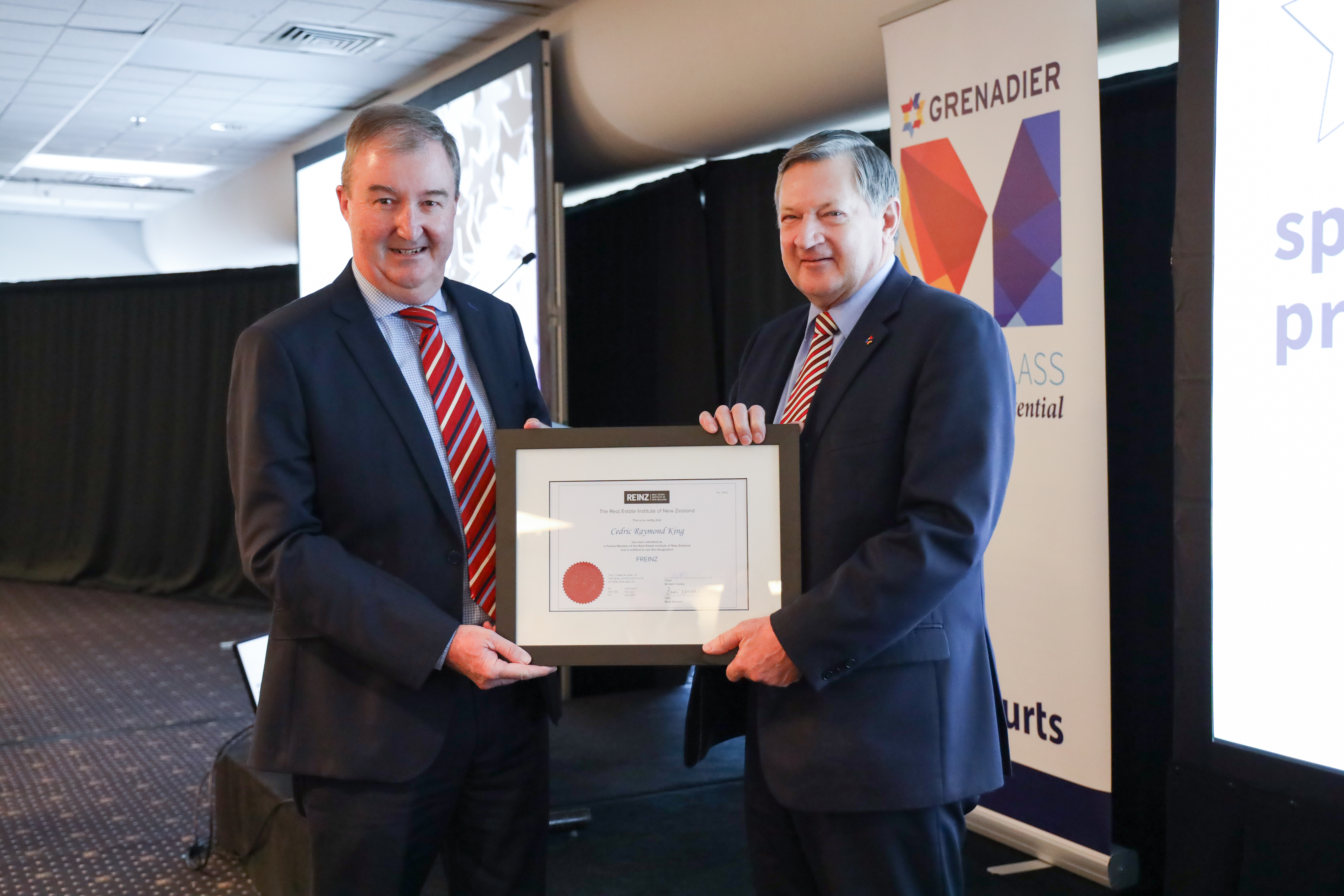 Harcourts Grenadier Manager honoured with REINZ fellowship