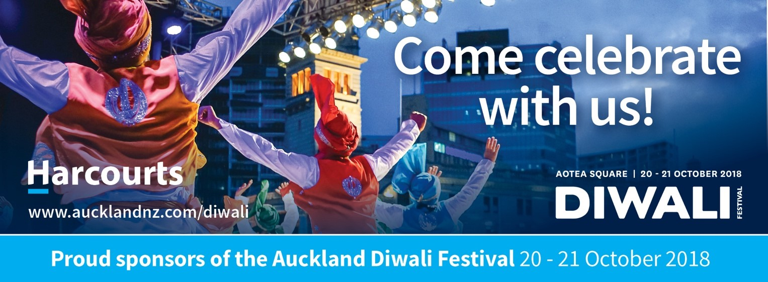 Harcourts is proud partner of Auckland Diwali Festival 2018