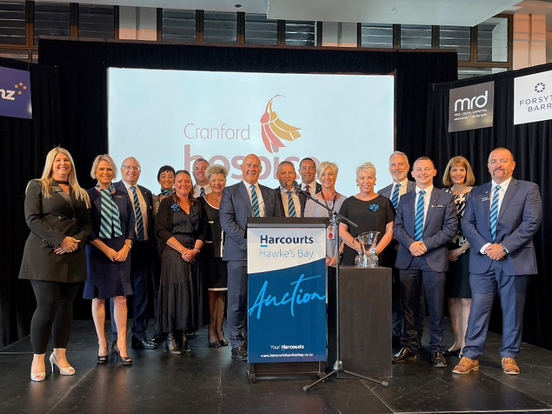 Harcourts Hawke's Bay helps raise over $300,000 for Cranford Hospice