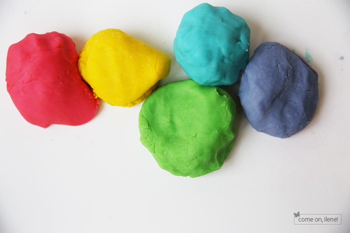 School holiday fun with play dough!